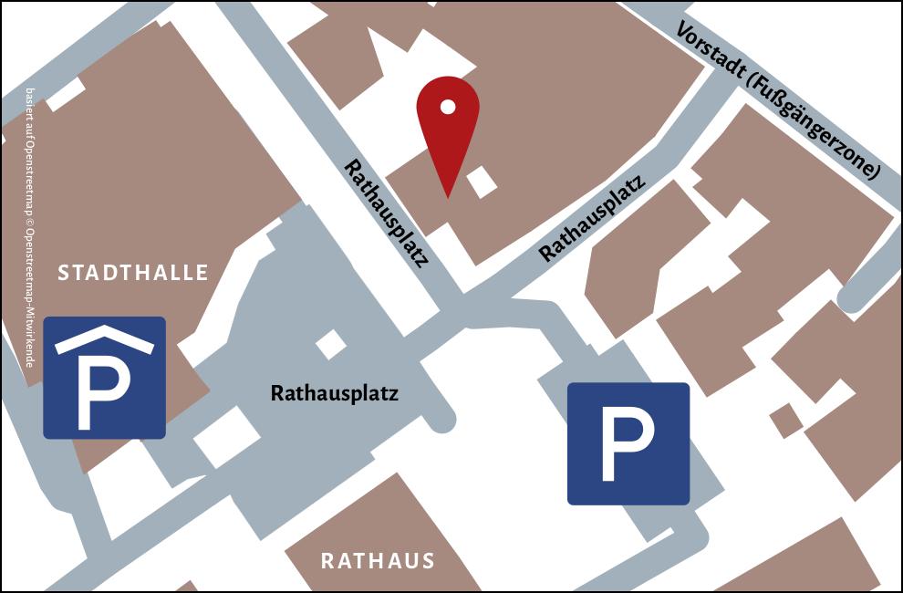 Anfahrtskizze basiert auf Openstreetmap © Openstreetmap-Mitwirkende